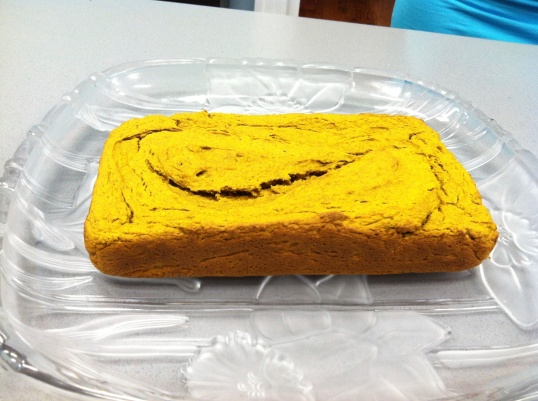 After baking, it was a very bright, lively color!
