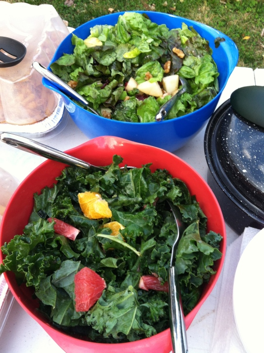 Two lucious salads made by Abby